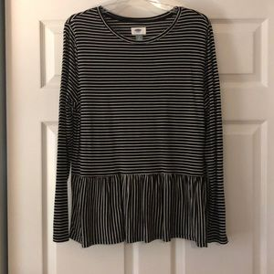 Black and White Old Navy top
